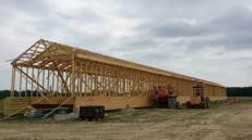 Fertilizer storage building pent house